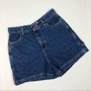 Vintage High Rise Utility Style Jean Shorts